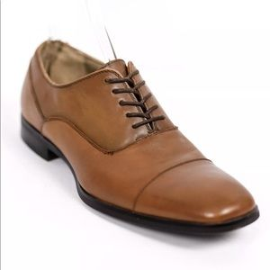 Calvin Klein Carlton Leather Oxford Brown Shoes